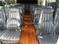 29 pass White Mini-Bus White leather seats - x