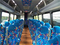 35 pass White Executive Coach Bus - x1
