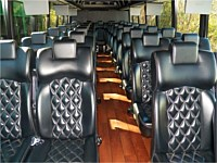 35 pass Black VIP Coach Bus - x