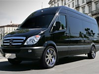 12-14 pass Mercedes Sprinter Limo Bus - grn