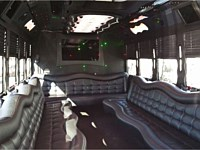 26 pass Black Limo Party Bus - x0