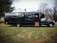 28 pass Black Limo Party Bus - grn