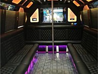28 pass Black Limo Party Bus - grn3