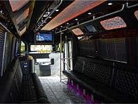 28 pass Black Limo Party Bus - grn4