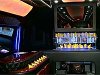 28 pass Black Limo Party Bus - grn5