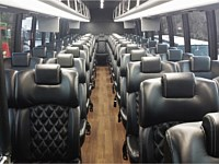 45 pass White VIP Executive Coach Bus - x