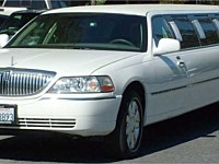 12 - 14 pass White Lincoln Limo Ultra Stretch - x2